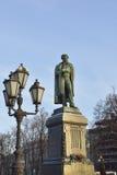Μνημείο στο διάσημο ρωσικό ποιητή Αλέξανδρος Pushkin στη Μόσχα (1880) Στοκ εικόνα με δικαίωμα ελεύθερης χρήσης