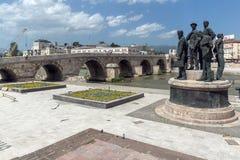 Μνημείο στο κέντρο της πόλης των Σκόπια, Δημοκρατία της Μακεδονίας Στοκ εικόνες με δικαίωμα ελεύθερης χρήσης