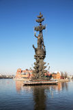 Μνημείο στο Μέγας Πέτρο, Μόσχα, Ρωσία Στοκ Φωτογραφία