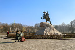 Μνημείο στο Μέγας Πέτρο (ο ιππέας χαλκού) Στοκ φωτογραφία με δικαίωμα ελεύθερης χρήσης