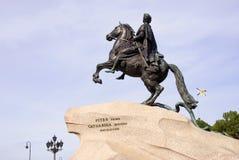 Μνημείο στο Μέγας Πέτρο στην Άγιος-Πετρούπολη, Ρωσία Στοκ Φωτογραφία