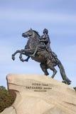 Μνημείο στο Μέγας Πέτρο στην Άγιος-Πετρούπολη, Ρωσία Στοκ φωτογραφίες με δικαίωμα ελεύθερης χρήσης