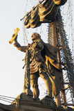 Μνημείο στο Μέγας Πέτρο στη Μόσχα Στοκ φωτογραφία με δικαίωμα ελεύθερης χρήσης