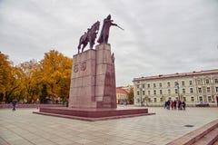 Μνημείο στο μεγάλο δούκα Gediminas στοκ φωτογραφία με δικαίωμα ελεύθερης χρήσης