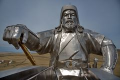 Μνημείο στο μεγάλο Genghis Khan στοκ εικόνα