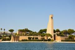 Μνημείο στο ναυτικό του Al Marinaio δ ` Ιταλία της Ιταλίας Monumento στην πόλη του Μπρίντιζι, Apulia, νότια Ιταλία Στοκ Φωτογραφίες