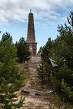 Μνημείο στο νησί Mudjug, Ρωσία Στοκ Εικόνες