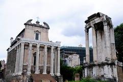 Μνημείο στο ρωμαϊκό φόρουμ, ιδίως Στοκ Φωτογραφίες