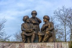 Μνημείο στο σουλτάνο Mehmed ΙΙ στο πάρκο πίστης στη Ιστανμπούλ, Τουρκία Στοκ Εικόνα
