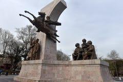 Μνημείο στο σουλτάνο Mehmed ΙΙ στο πάρκο πίστης στη Ιστανμπούλ, Τουρκία Στοκ εικόνα με δικαίωμα ελεύθερης χρήσης