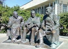 Μνημείο στο Στάλιν, Churchill και Roosevelt στοκ φωτογραφία με δικαίωμα ελεύθερης χρήσης