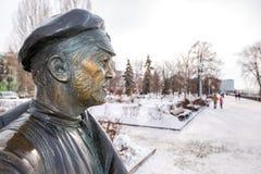 Μνημείο στο σύντροφο Sukhov, ο κύριος χαρακτήρας του κινηματογράφου Στοκ Εικόνα