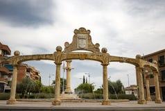 Μνημείο στο τετράγωνο ελευθερίας Torrijos στην πόλη στοκ εικόνες με δικαίωμα ελεύθερης χρήσης
