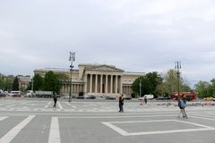 Μνημείο στο τετραγωνικό circa ηρώων στη Βουδαπέστη, Ουγγαρία Στοκ Φωτογραφίες