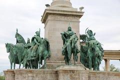 Μνημείο στο τετραγωνικό circa ηρώων στη Βουδαπέστη, Ουγγαρία Στοκ φωτογραφίες με δικαίωμα ελεύθερης χρήσης