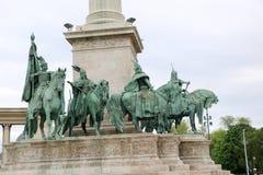 Μνημείο στο τετραγωνικό circa ηρώων στη Βουδαπέστη, Ουγγαρία Στοκ εικόνα με δικαίωμα ελεύθερης χρήσης