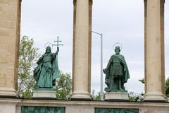 Μνημείο στο τετραγωνικό circa ηρώων στη Βουδαπέστη, Ουγγαρία Στοκ φωτογραφία με δικαίωμα ελεύθερης χρήσης
