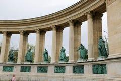 Μνημείο στο τετραγωνικό circa ηρώων στη Βουδαπέστη, Ουγγαρία Στοκ Εικόνες