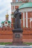 Μνημείο στο τσάρο Fyodor Ivanovich Η Δημοκρατία των Μάρι EL, Yoshkar-Ola, Ρωσία 05/21/2016 Στοκ φωτογραφία με δικαίωμα ελεύθερης χρήσης