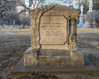 Μνημείο στο John Neely Bryan, πρώτος πολίτης του Ντάλλας στοκ φωτογραφίες