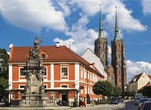 Μνημείο στο John Nepomuk και του καθεδρικού ναού του ST John το BA Στοκ εικόνα με δικαίωμα ελεύθερης χρήσης