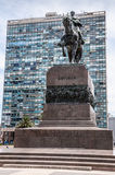 Μοντεβίδεο, Ουρουγουάη - μνημείο σε Artigas Στοκ Εικόνες