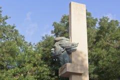 Μνημείο στο Maxim Γκόρκυ στο ανάχωμα του Γκόρκυ στην πόλη του Ε στοκ φωτογραφία με δικαίωμα ελεύθερης χρήσης
