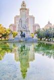 Μνημείο στο Miguel de Θερβάντες στη Μαδρίτη, Ισπανία Στοκ Εικόνα