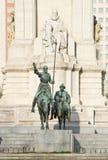 Μνημείο στο Miguel de Θερβάντες Saavedra Στοκ Φωτογραφία