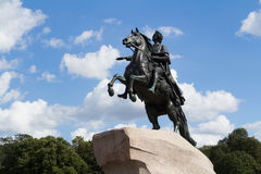 Μνημείο στο Peter Ι σε Άγιο Πετρούπολη Στοκ Φωτογραφία