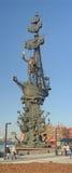 Μνημείο στο Peter 1 στο ανάχωμα του ποταμού Moskva στη Μόσχα, Ρωσία Στοκ εικόνες με δικαίωμα ελεύθερης χρήσης