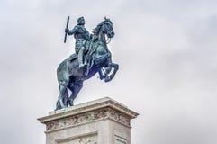 Μνημείο στο Philip IV στη Μαδρίτη, Ισπανία. Στοκ Εικόνες