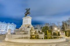 Μνημείο στο Philip IV στη Μαδρίτη, Ισπανία. Στοκ φωτογραφίες με δικαίωμα ελεύθερης χρήσης