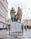 Μνημείο στο Stanislavsky και nemirovich-Danchenko σε Kamerge Στοκ φωτογραφίες με δικαίωμα ελεύθερης χρήσης