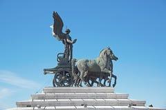 Μνημείο στο Victor Emmanuel ΙΙ στην πλατεία Venezia στη Ρώμη Στοκ Εικόνες