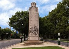Μνημείο στρατιωτών και ναυτικών εμφύλιου πολέμου από Hermon Atkins MacNeil, χώρος στάθμευσης του Benjamin Franklin, Φιλαδέλφεια,  Στοκ Φωτογραφίες