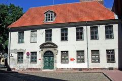 Μνημείο της αρχιτεκτονικής στην παλαιά Ρήγα, Λετονία Στοκ φωτογραφία με δικαίωμα ελεύθερης χρήσης