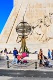 Μνημείο της Λισσαβώνας, Πορτογαλία στις ανακαλύψεις στοκ εικόνες