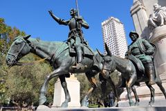 Μνημείο της Μαδρίτης Στοκ Εικόνα