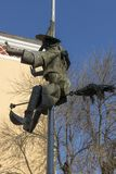 Μνημείο της οδήγησης hag του μπαμπά Yaga στο κέντρο της πόλης Haskovo, Βουλγαρία Στοκ Εικόνες