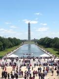 Μνημείο της Ουάσιγκτον & απεικόνιση της ημέρας μνήμης λιμνών Στοκ Εικόνες