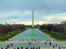 Μνημείο της Ουάσιγκτον από το Λίνκολν στοκ εικόνα
