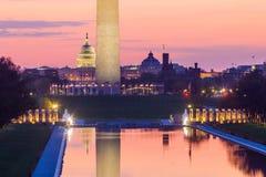 Μνημείο της Ουάσιγκτον και το U S Κτήριο Capitol Στοκ Εικόνες