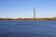 Μνημείο της Ουάσιγκτον πέρα από τη δεξαμενή Στοκ εικόνα με δικαίωμα ελεύθερης χρήσης