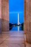 Μνημείο της Ουάσιγκτον που απεικονίζει από Jefferson Στοκ Εικόνες