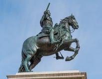Μνημείο της Isabel Segunda Plaza de Oriente Square στη Μαδρίτη Στοκ Φωτογραφίες