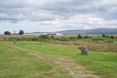 Μνημείο τομέων μάχης Culloden, Iνβερνές, Σκωτία στοκ φωτογραφία