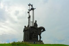 Μνημείο του Αλεξάνδρου Nevsky Pskov Ρωσία Στοκ Φωτογραφίες