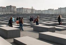 Μνημείο του Βερολίνου για τους δολοφονημένους Εβραίους της Ευρώπης Στοκ φωτογραφία με δικαίωμα ελεύθερης χρήσης