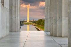 Μνημείο του Λίνκολν στο μνημείο της Ουάσιγκτον Στοκ Εικόνα